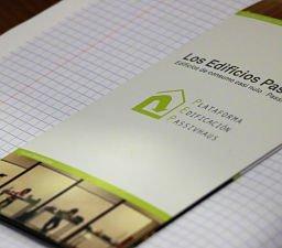 folleto acerca de cómo es un edificio passivhaus