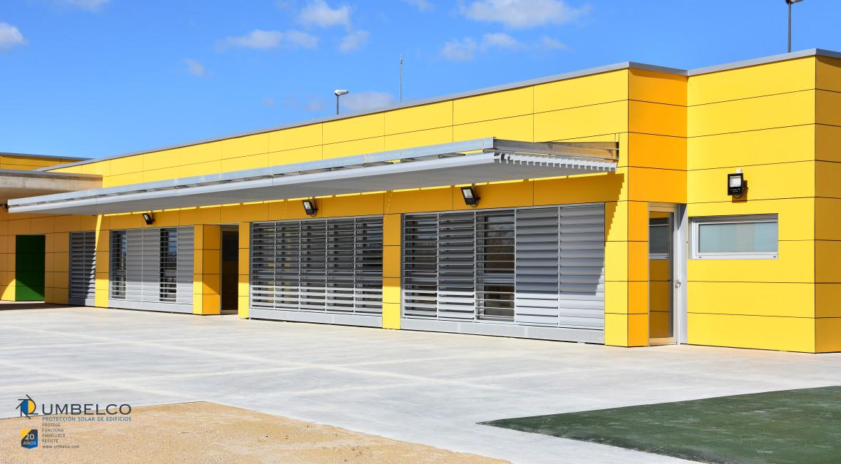 Gestión de obras en colegio de Sobradiel, de fachada ventilada