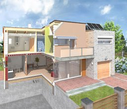 ilustración de viviendas pasivas