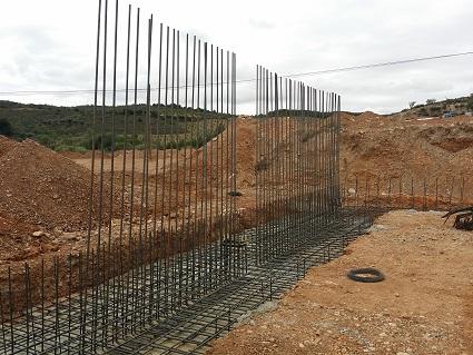Cimentación de zapatas para muros en proyecto de una nave agrícola