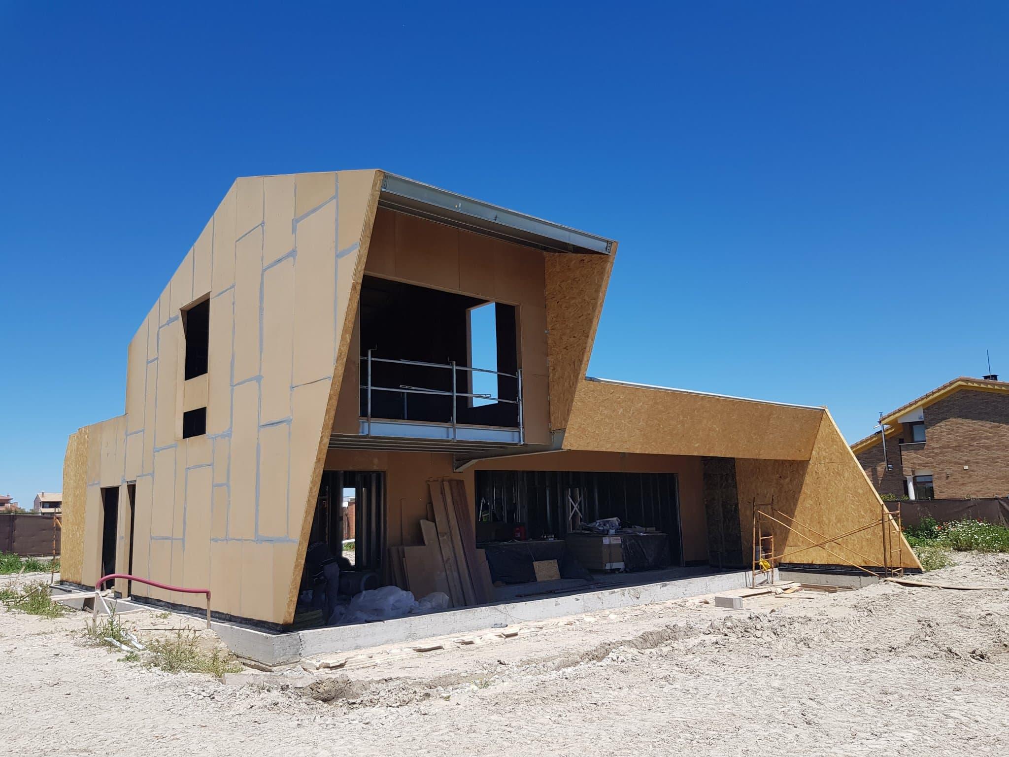 vivienda de diseño en valladolid steelframe